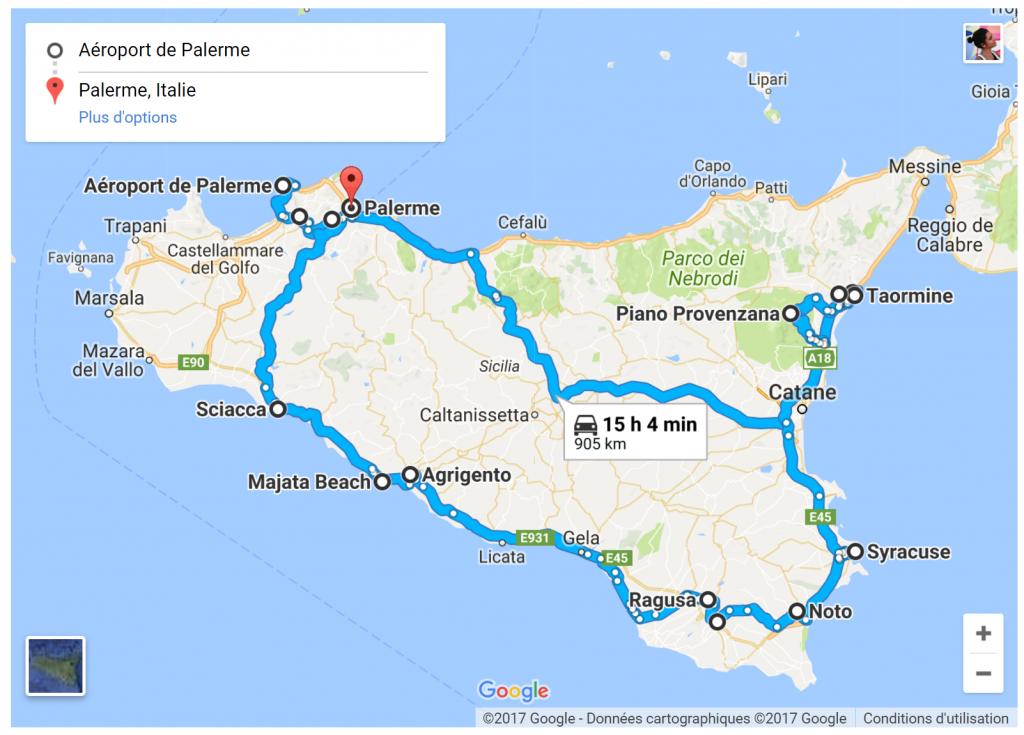 Carte Sicile Aeroport.Road Trip 5 Jours En Sicile My Little Road