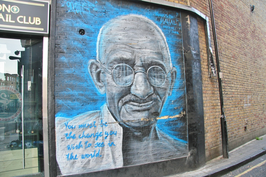 street-art-gandhi-london